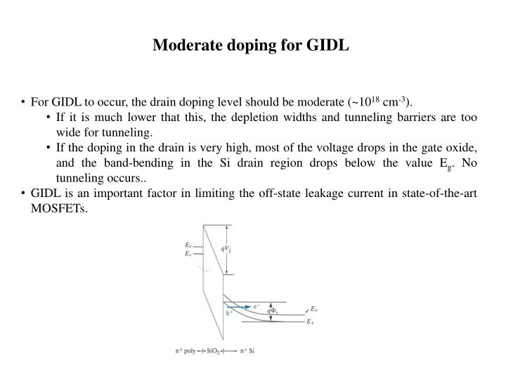 Moderate doping for GIDL