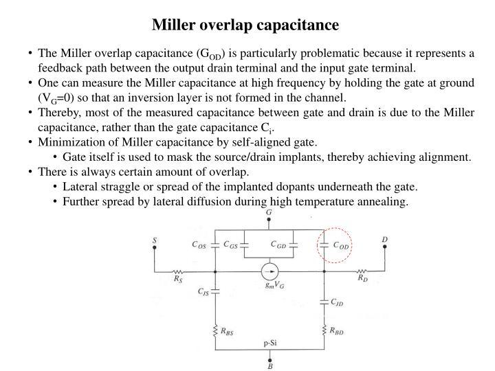 Miller overlap capacitance
