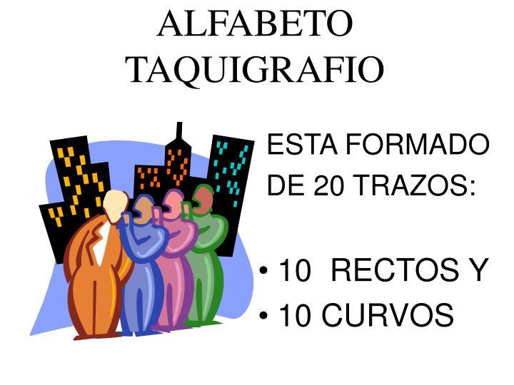 Alfabeto taquigrafio