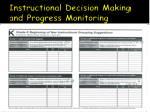 instructional decision making and progress monitoring