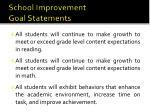 school improvement goal statements