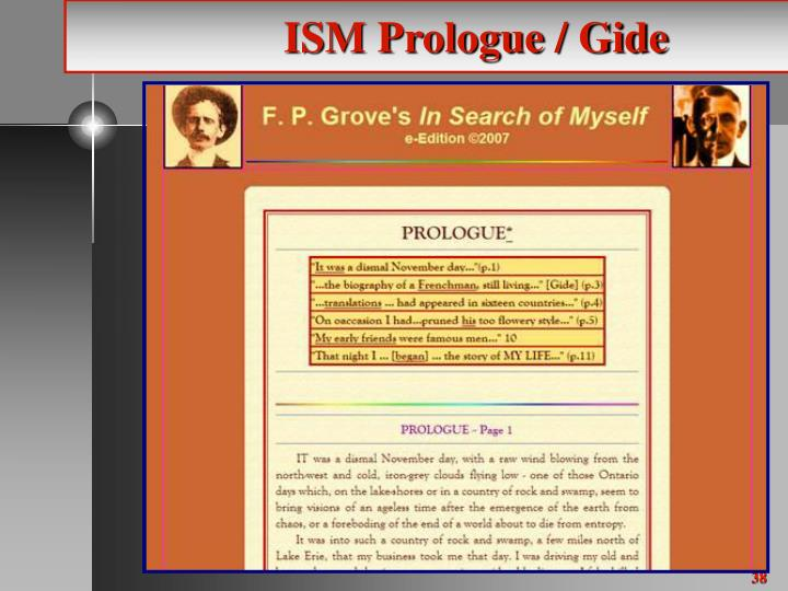 ISM Prologue / Gide