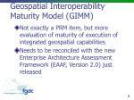 geospatial interoperability maturity model gimm