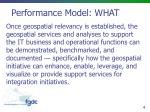 performance model what