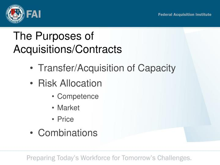 Transfer/Acquisition of Capacity