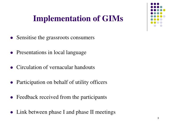 Implementation of gims