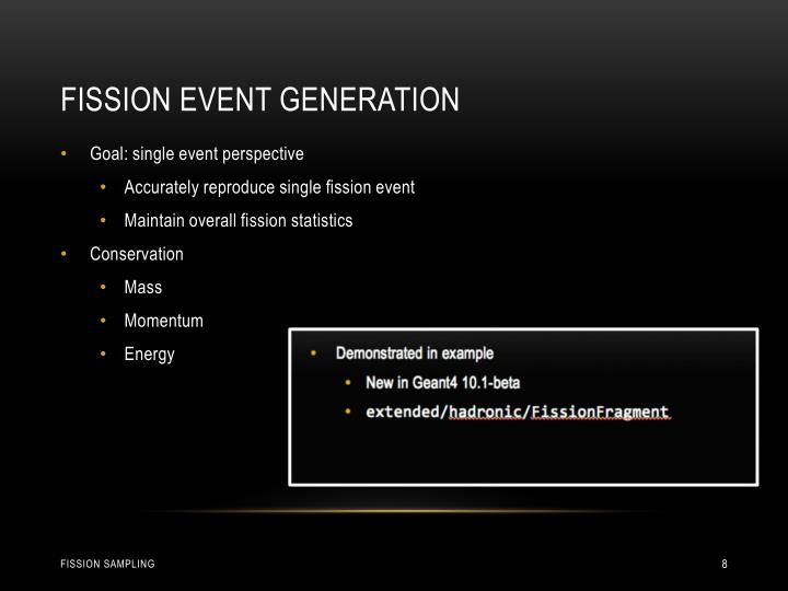 Fission Event Generation