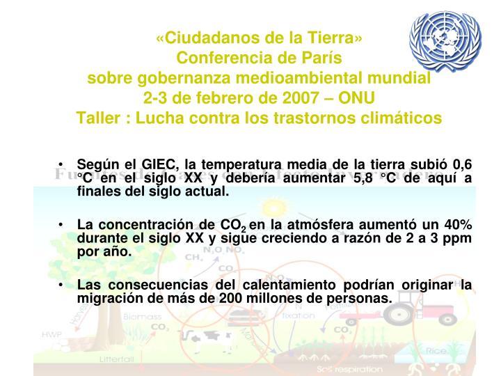 «Ciudadanos de la Tierra»