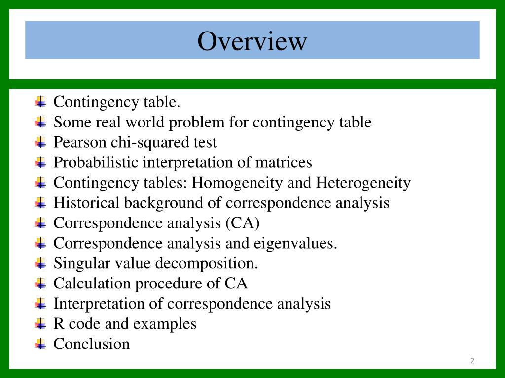 Ppt Contingency Table And Correspondence Analysis Powerpoint