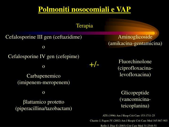 Polmoniti nosocomiali e VAP