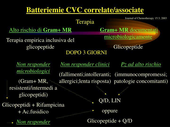 Batteriemie CVC correlate/associate