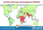 countries with crises and emergencies 1990 2010