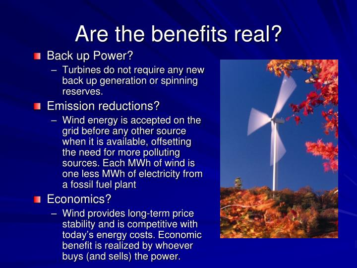Are the benefits real?