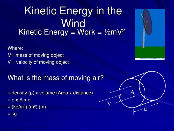 Kinetic Energy in the Wind