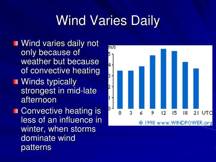 Wind Varies Daily