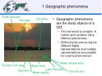 1 geographic phenomena