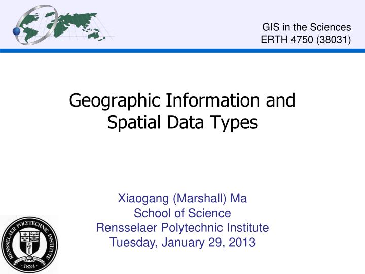 geographic information and spatial data types n.