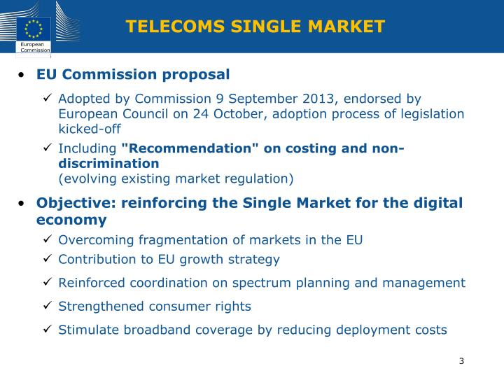 Telecoms single market