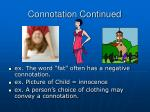 connotation continued