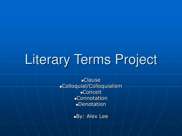 literary terms project n.