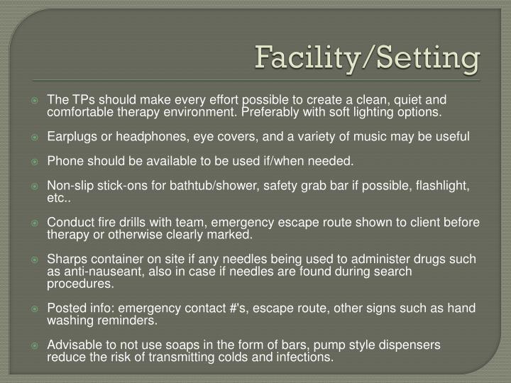 Facility/Setting