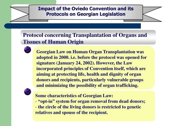 Impact of the Oviedo Convention and its Protocols on Georgian Legislation