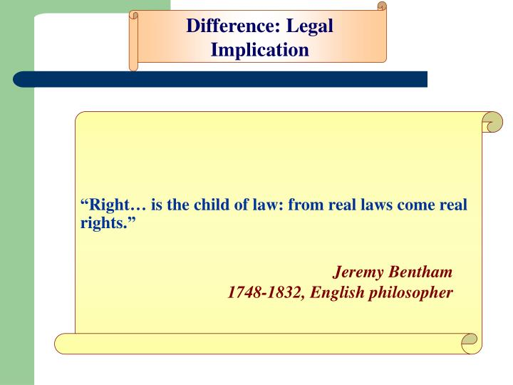 Difference: Legal Implication