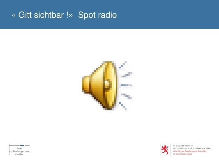 «Gitt sichtbar !»  Spot radio