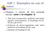 gir 1 examples on use of notes