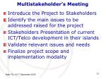 multistakeholder s meeting