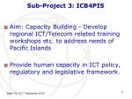 sub project 3 icb4pis