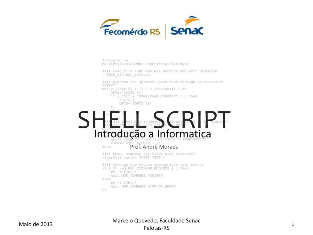 PPT - SHELL SCRIPT PowerPoint Presentation - ID:4148525