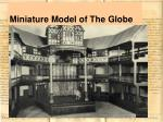 miniature model of the globe