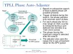 tpll phase auto adjuster