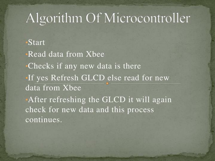 Algorithm Of Microcontroller