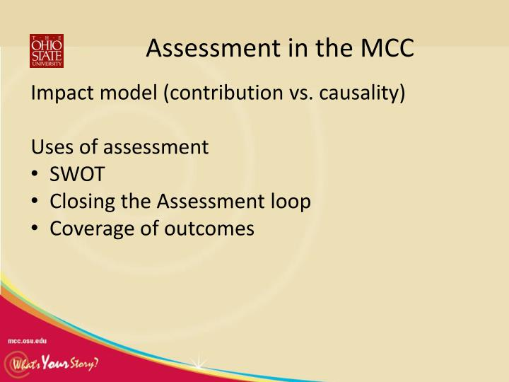 Assessment in the MCC