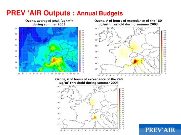 PREV'AIR Outputs :