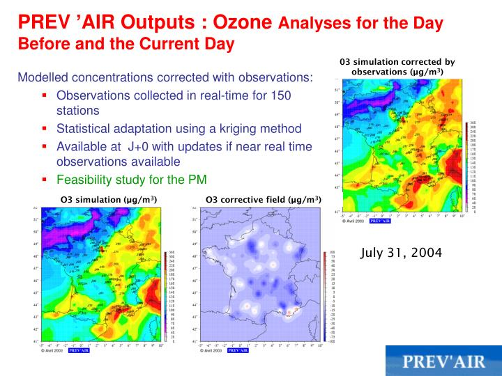 PREV'AIR Outputs : Ozone