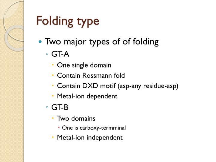 Folding type