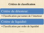crit res de classification