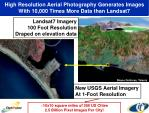 high resolution aerial photography generates images with 10 000 times more data than landsat7
