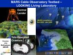 mars cable observatory testbed looking living laboratory