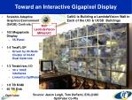 toward an interactive gigapixel display