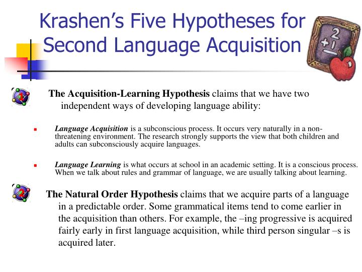 essays about second language acquisition Second language acquisition is a process by which people learn a second language it refers to any language learned in addition to the first language and the differences between both processes second language acquisition is a controversial issue since, there is no a general agreement about how and when it takes place.