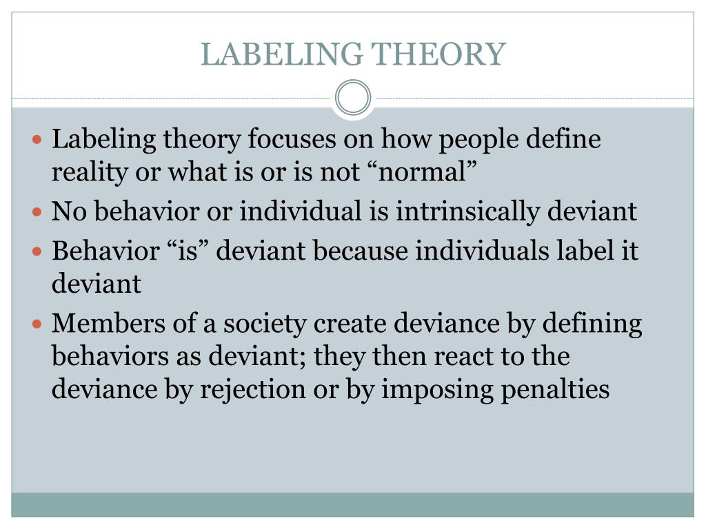 This is a graphic of Dramatic Labeling Theory Focuses on