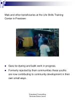 mab and other beneficiaries at the life skills training center in freetown