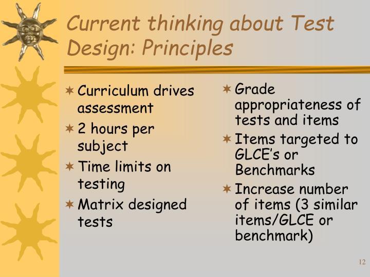 Curriculum drives assessment