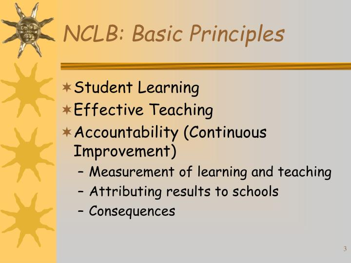 Nclb basic principles