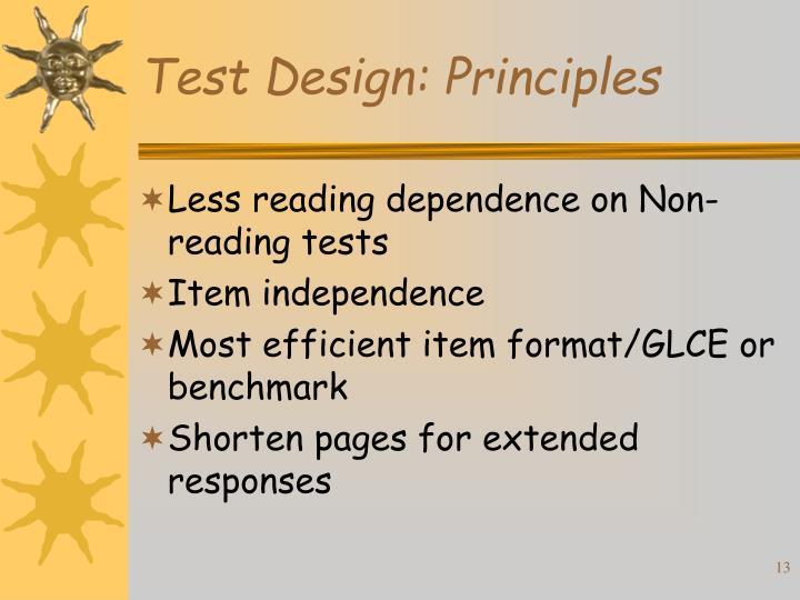Test Design: Principles