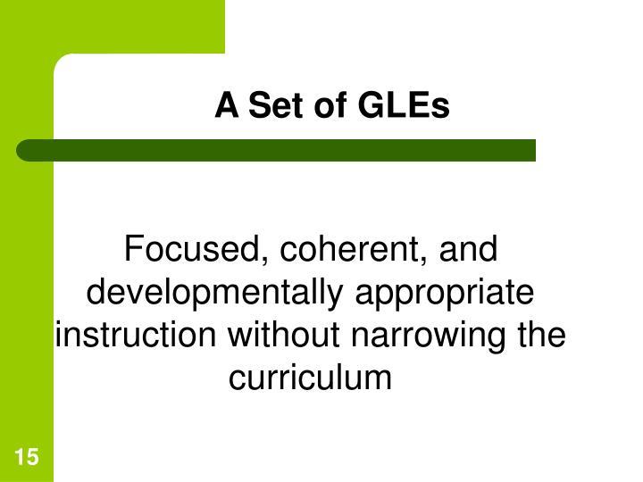 A Set of GLEs